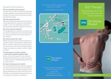 IDD Therapy® - BMI Healthcare