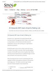 Get Prepackaged JD Edwards Customers Mailing List from Span Global Services