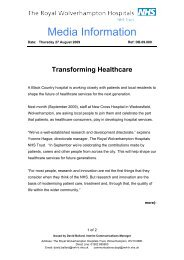 Transforming Healthcare - The Royal Wolverhampton Hospitals ...