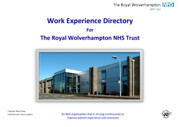 Work Experience Placement Directory - The Royal Wolverhampton ...