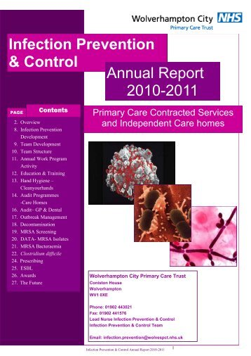Infection Prevention Annual Report Primary Care 2010/11