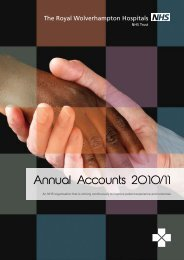 Annual Accounts 2010/11 - The Royal Wolverhampton Hospitals ...