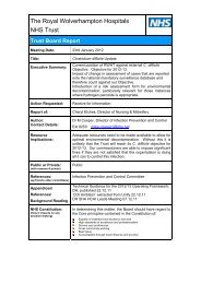 Department of Health Guidance on testing for C Diff - The Royal ...