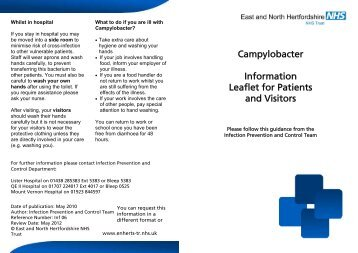 Campylobacter information leaflet - East and North Herts NHS Trust