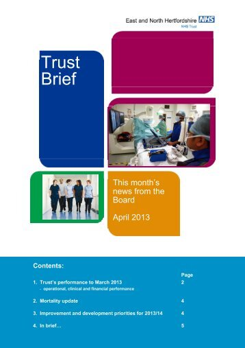 Trust Brief - East and North Herts NHS Trust
