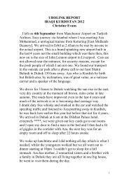 UROLINK report IRAQI KURDISTAN 2012 - British Association of ...