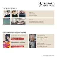 sammlung leopold vorschau sonderausstellungen - Leopold Museum