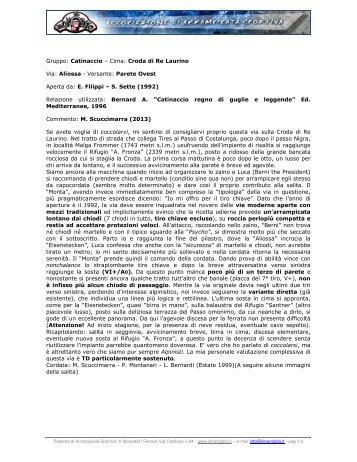 Gruppo: Catinaccio – Cima: Croda di Re Laurino Via ... - Il Monodito