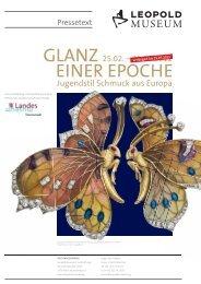 PRESSETEXT Glanz einer Epoche - Leopold Museum