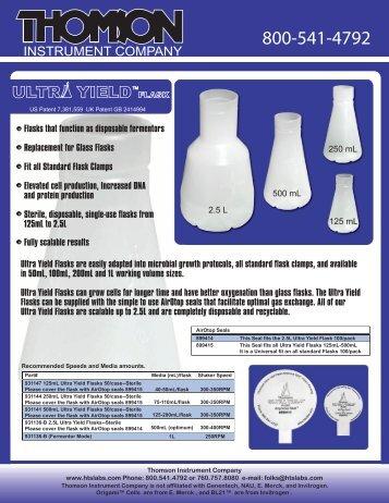 Ultra Yield Flask performance data