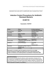 Infection Control Precautions for Antibiotic Resistant Bacteria IC/287 ...