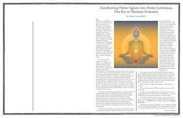 Transforming Homo Sapiens into Homo Luminosus, Our Key to ...