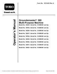 Toro Groundsmaster 360 Operators Manual