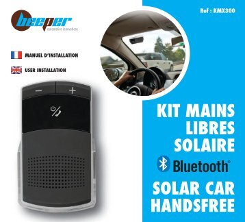 KIT MAINS LIBRES SOLAIRE SOLAR CAR HANDSFREE - Beeper