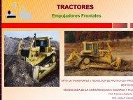 Tractores. Empujadores Frontales