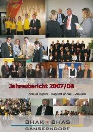 Jahresbericht 2007/08