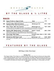 B Y T H E G L A S S & ½ ... - The Waterside Inn