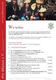 Kurzvorstellung als PDF - Pro Bhutan eV
