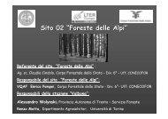 Foreste Alpine 2009-10 - LTER italia