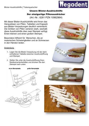 Blister-Ausdrückhilfe & Tubenquetscher