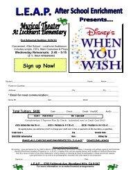 Sign up Now! - Lockhurst Elementary School