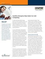 GemFire Enterprise Data Fabric for Grid ... - GemStone Systems