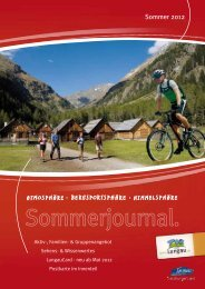 Sommerjournal - Ferienregion Lungau