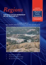 A NEW DAWN? REGIONS AND REGIONALISM IN ... - Cities Institute