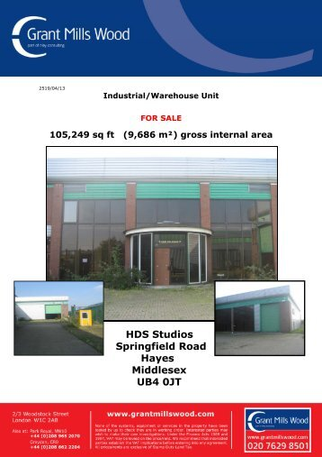 HDS Studios Springfield Road Hayes Middlesex ... - Grant Mills Wood