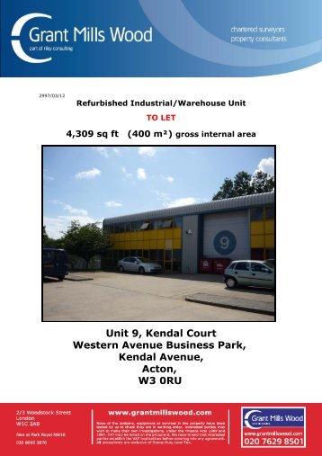 Unit 9, Kendal Court Western Avenue Business ... - Grant Mills Wood