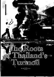 The Roots of Thailand's Turmoil - Asia Pacific Media Services