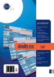 aktuality 858 1/2007 - GS1 Slovakia
