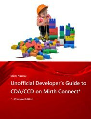 Unofficial Mirth Connect Developer's Guide