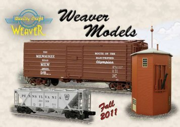 Click Here To View Our Fall 2011 Catalog - Weaver Models