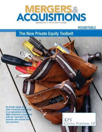 The New Private Equity Toolbelt - KPS Capital Partners LP
