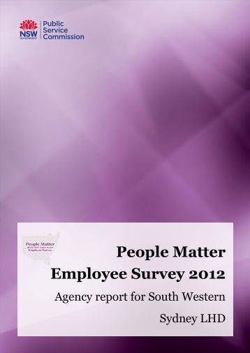 People Matter Employee Survey 2012 - South Western Sydney ...