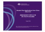 Student Visa Applications from China 2009-2010 2009 2010 2009至 ...