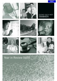 2006-07 Year in Review - South Western Sydney Local Health District