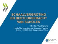 Schaalvergroting en bestuurskracht van scholen - OVSG, 10 juni 2014