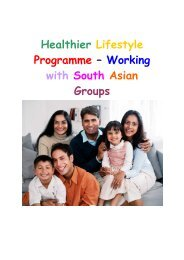 Diabetes – Working with Ethnic Minority Groups - Equalities in Health