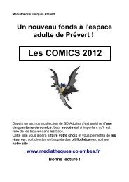 Pour une sélection de notre nouveau fonds Comics, cliquer ici