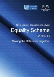 Equality Scheme 2010 - 13 - NHS Greater Glasgow and Clyde