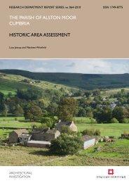 THE PARISH Of AlSTON MOOR CuMbRIA ... - English Heritage