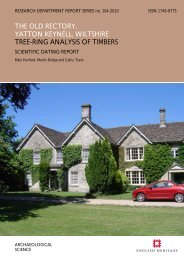 the old rectory, yatton keynell, wiltshire tree-ring ... - English Heritage