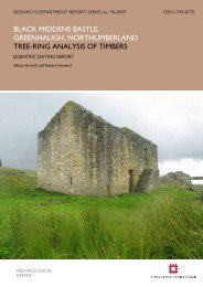 BLACK MIDDENS BASTLE, GREENHAUGH ... - English Heritage