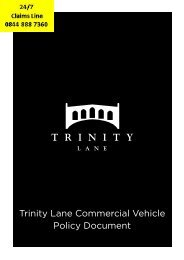 Trinity Lane Commercial Vehicle Policy Document - Adrian Flux