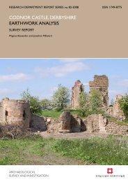 codnor castle, derbyshire earthwork analysis - English Heritage