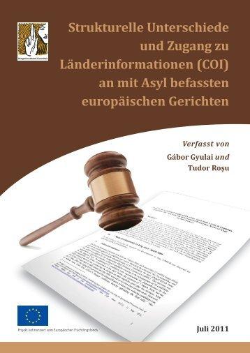 Strukturelle Unterschiede und Zugang zu Länderinformationen (COI)