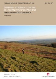DISPERSED SETTlEMENTS ON THE ... - English Heritage