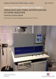 anglo saxon chronology project amino acid and ... - English Heritage